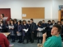 1º y 2º P. cantan villancicos en el centro ocupacional de San Marcelino.