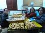 Preparación de los rollitos de San Blas por parte del AMPA