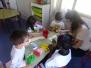 Rincones de trabajo en infantil con la colaboración de las familias.